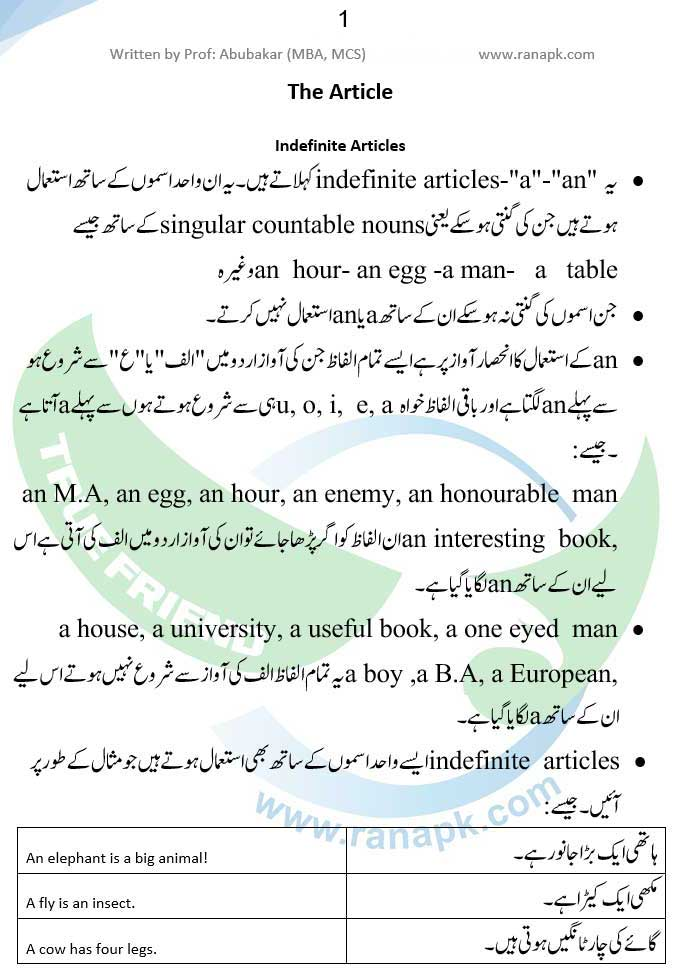 English Grammar Tenses In Urdu Pdf